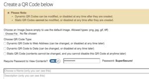 Create Password Protected QR Code.