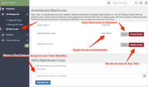 Manage Read Access